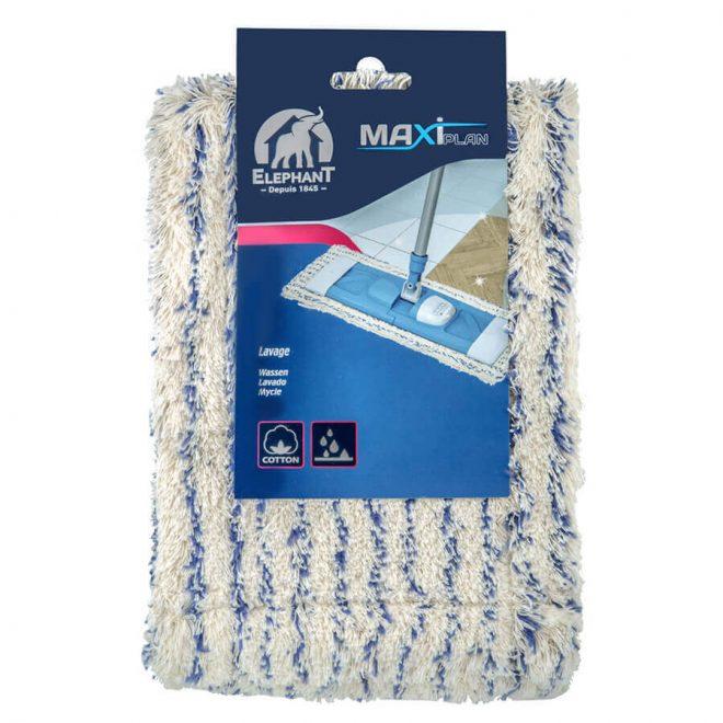 Wymienna bawełniana nakładka zakładana na mopa w opakowaniu