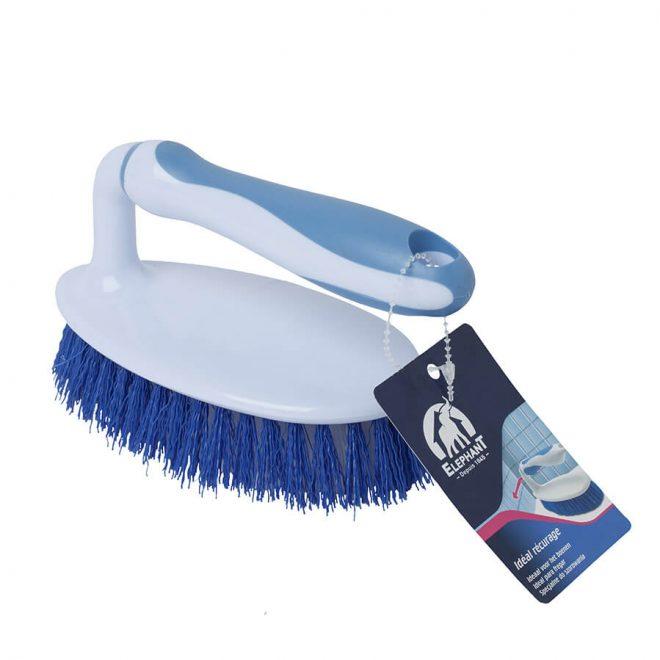 Szczotka żelazko w kolorze niebieskim do prania wykładzin i dywanów