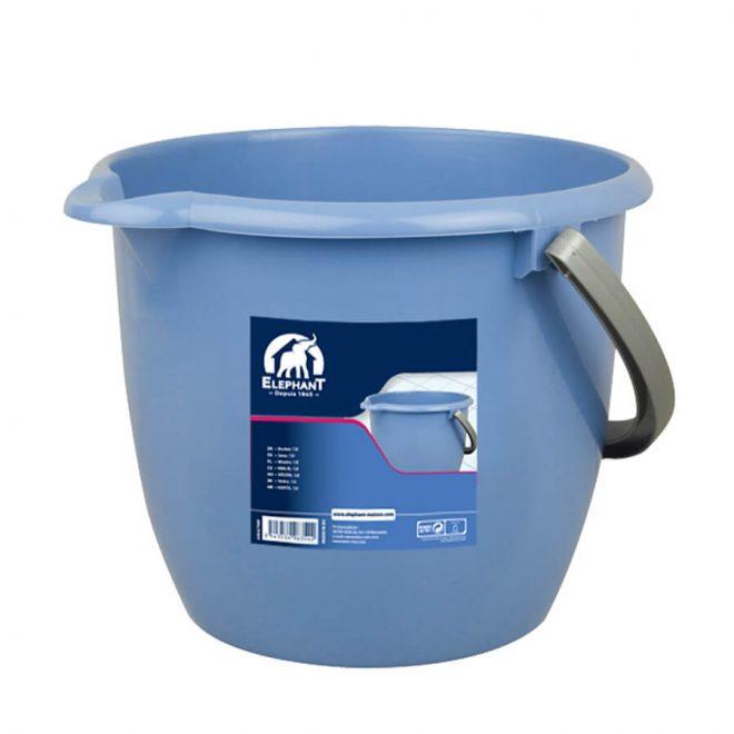 Wiadro o pojemności 12 litrów w niebieskim kolorze